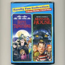 2 family PG animated Halloween movies Hotel Transylvania Monster House, new DVDs