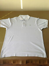 "Men's Real Lacoste Grey Polo Shirt Size 5 Same As L Large to XL 44""- 46"" Chest"