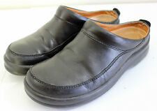Footprints Birkenstock Womens Ashby Black Leather Slip On Mules Clogs 38 Eu 8 US