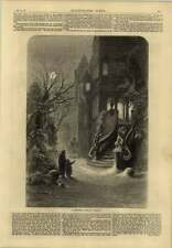 1869 Rich Man Poor Man Christmas Scene In Germany