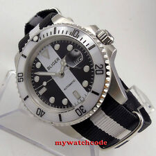 40mm bliger black white dial sapphire glass automatic movement mens watch B137