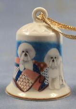 Bichon frise Porzellanglocke figur porzellan weihnachtsglocke 108