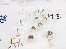 60PCS Making Findings Earring Backs Stoppers Ear Post Nuts Jewelry Gold/Silver