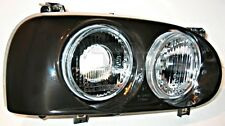 Black Headlight Front Lamp Set Fits VW Golf Mk3 Cabriolet Variant 1991-1999