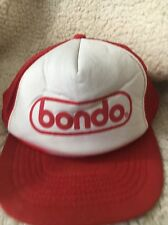 Bondo Red Mesh SnapBack Trucker Hat Baseball Cap Car Repair