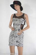 Robe noire blanche CHERRY MODA taille 36/38 ref 061618