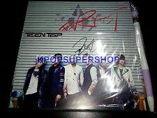 Teen Top 3rd Mini Album Artist L.Joe Signed Autographed Promo CD Pen L. Joe