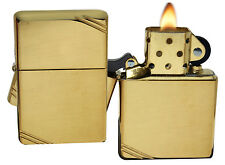Zippo Lighter 270 Vintage 1937 With Slashes High Polish Brass Windproof NEW