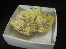 AZUFRE - Sulfur - Jerez de la Frontera CAJITA - SPAIN MINERAL BOX 4x4 A588