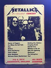 METALLICA Knebworth Concert Vintage Retro Style METAL SIGN Wall Decor 20x30 Cm