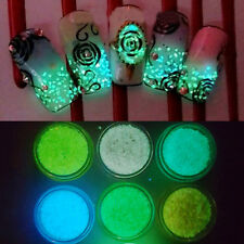 Glitter Luminous Nail Art Sticker Tips Decoration DIY Acrylic Manicure Color 4