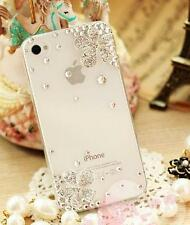 Diagonal flower Crystal Finished Case Hard cover skin for Apple iPhone 5 5S OC24