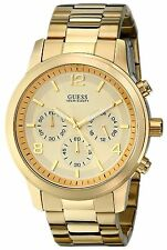 Guess Gold tone Chrono Stainless Ladies Bracelet Watch 45mm Watch U15061G2 NEW
