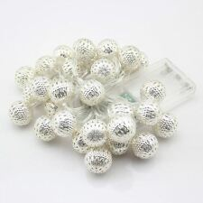 Christmas LED Fairy Light 20 Morrocan Multi Colour Ball Battery Operated 4.3m