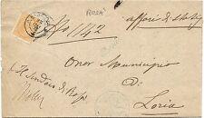 P6210   Vicenza, Rosà, annullo lineare corsivo + DC Bassano 1875