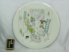 Beautiful handpainted & signed MIA LEDERER porcelain wall plate  Wandteller 24,5