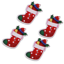 50pcs New Colorful Christmas Stocking Wood Buttons Sewing Scrapbooking Crafts LC
