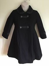 Rothschild Girls 5 Black Peacoat Coat Jacket Wool Blend EUC