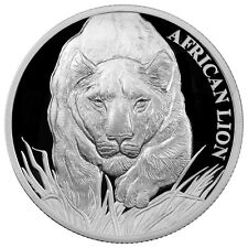 2017 Republic of Chad 5000F 1 Oz Proof Silver African Lion (Mint Cap) SKU43706