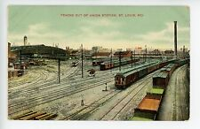 Train Tracks out of Union Station RR Depot St Louis MO Antique PC 1910s