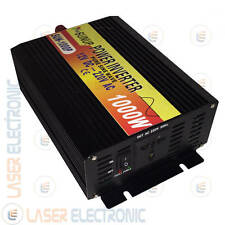 POWER INVERTER ISOLA ONDA SINUSOIDALE PURA 1000W (max2000W) DA 12V A  220V