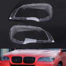 Pair Lens Lamp Cover Headlight Cover Lampshade for BMW X5 E70 2007-2012