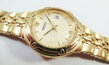 Seiko SXD410 Gold Tone Stainless Steel 7N82-0BD8 Sample Watch NON-WORKING