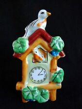 MATCH STICK HOLDER Cuckoo Clock Porcelain JAPAN Wall or Table Vintage
