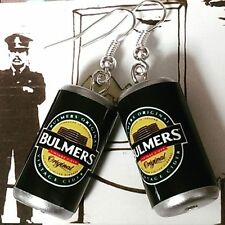 Unique BULMERS EARRINGS handcrafted DESIGNER drink CIDER apples PUB bar CANS