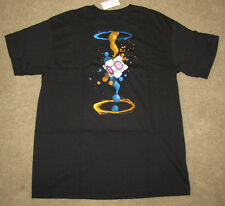 T-SHIRT MENS VIDEO GAME PORTAL LOVE HEART BOX JINX SPLATT BLACK GRAPHIC MEDIUM!!
