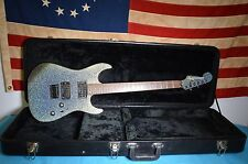 FENDER SQUIER SHOWMASTER HH SILVER SPARKLE SHIFTING COLORS GUITAR