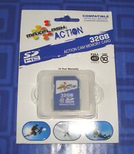 MAXFLASH ACTION 32GB Action Cam Memory Card New In The Package Sealed