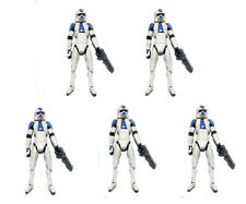 "Lot of 5 Star Wars Clone Trooper Blue Arf At-Rt Driv 3.75"" Looese Action Figure"