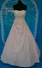 Champagne Taffeta Wedding dress Size 10. Sample Nicola Anne Bridal UK Seller