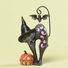Jim Shore Heartwood Creek*MINIATURE BLACK CAT with BAT*New*NIB*HALLOWEEN*4034439