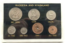 Rhodesia Nyasaland 1955-1963 Pack Complete Set of 7 Coins,UNC