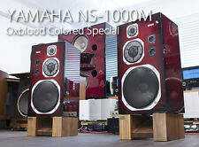 YAMAHA NS-1000M speakers in Polished Oxblood Color refurbished by KENRICK SOUND