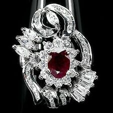 _LDN_Luxeuse Bague Rubis Rouge Sang_Argent 925_T57