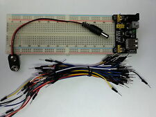 Breadboard, Power Supply 5/3.3V, PP3 Bat Con,Wires Prototype AVR,Pi,Arduino,PIC
