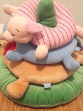"Disney Baby Winnie The Pooh Stack-able Ring Pillow Soft Plush Toy 17"" x 15"" EUC"