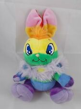 "Neopets Rainbow Cybunny Plush Sits 9"" Tall to top of ears 2007"