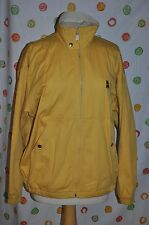Vintage NIKE MENS M YELLOW lined zip up JACKET Golf Walking Cotton FREE SHIPPING