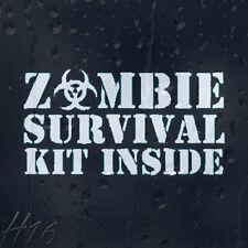 Zombie Survival Kit De Interior Coche Decal Vinilo Adhesivo Para Panel de ventana de parachoques
