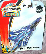 2003 MATCHBOX HERO CITY SKYBUSTERS BLUE TORNADO MARINE FIGHTER JET MIP