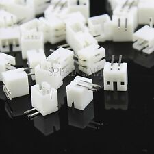 100Pcs PH2.0 2Pin Pitch Leads Header Socket Connector DIP 90°Degree Angle PCB