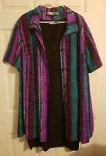 Women's Stacey Tyler 2 Pc. Black Dress with Button Down Overcoat Size 24 Plus