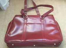 Burgundy Leather Franklin Covey Tote/ Laptop Case/ Purse/ Briefcase