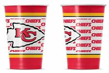 Kansas City Chiefs Disposable Paper Cups - 20 Pack [NEW] NFL Party Tailgate