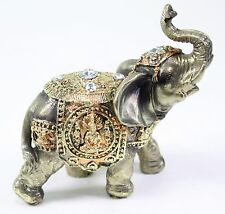 Feng Shui Bronze Elephant Trunk Statue Wealth Lucky Figurine Gift Home Decor