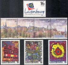 Luxembourg 1995 City of Culture/Buildings/Hundertwasser/Modern Art 8v set n42443
